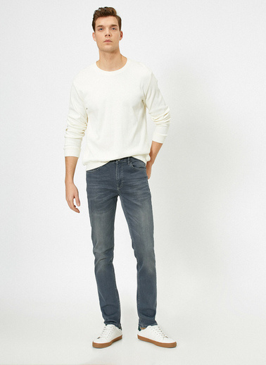 Koton Brad Slim Fit Jean Pantolon Gri